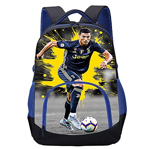 KKASD Cristiano Ronaldo Mochila impresa en 3D Niño / niña / adulto / adolescente / estudiante mochila escolar mochila de moda 45x30x15cm mochila para niños