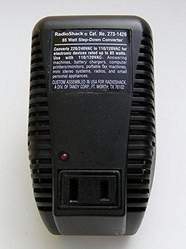 85 Watt Foreign Voltage Converter Radio Shack # 273-1426