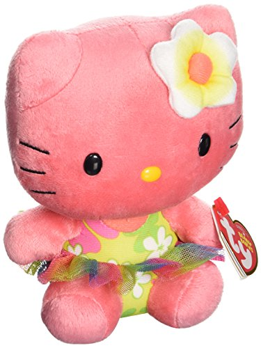 Hello Kitty - Peluche, 15 cm, Color Rosa Oscuro (TY 41029TY