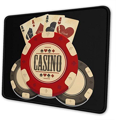Muismat voor gaming muismat, rechthoekig, casino-spel, voor cadeau, draadloos of met bluetooth verbonden