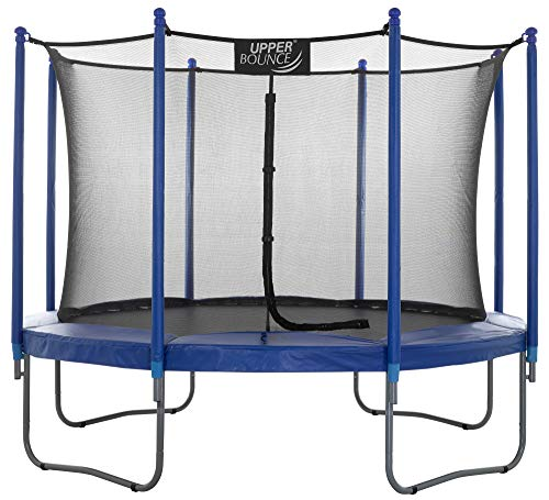 Upper Bounce Premium 14Ft Trampoline and Enclosure Set Equipped with Easy Assembly Feature | Outdoor Trampoline with Safety Enclosure Net | Ultra Durable Foam Mat and Safety Pads