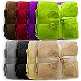 casa pura XXL Decke Glory | Uni Sand | super weiche Wohndecke/Kuscheldecke | 2 Größen und 8 Farben verfügbar | 150x200cm