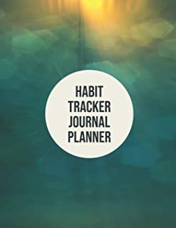 Habit Tracker Journal Planner: 24 Month Habit Tracker Calendar to Help You Track Your Habits 8.5 x 11 Inches Notebook