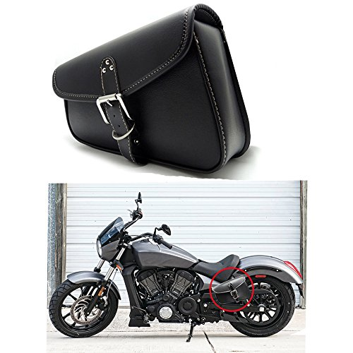 1 Stück Motorrad Satteltaschen Leder PU Wasserdichte Links Satteltasche Motorrad Side Gepäck Werkzeugtasche Schwarz