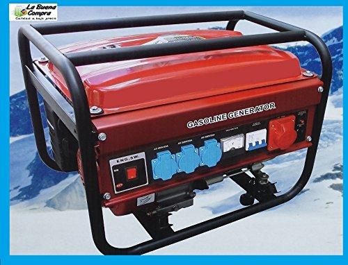 Generador eléctrico de gasolina Trifásico y Monofásico, 3000W max. 2500W nominal