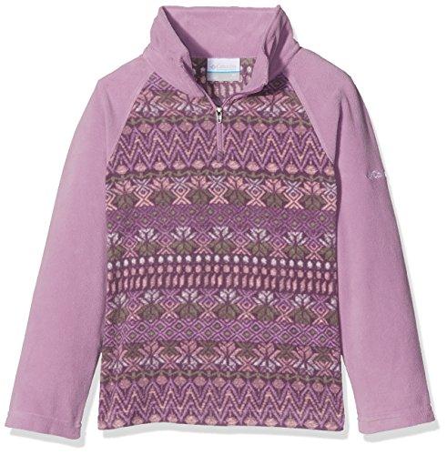 Columbia Mädchen Glacial II Print Half Zip Fleece-Jacke, Violet Haze Nordic Stripe, S