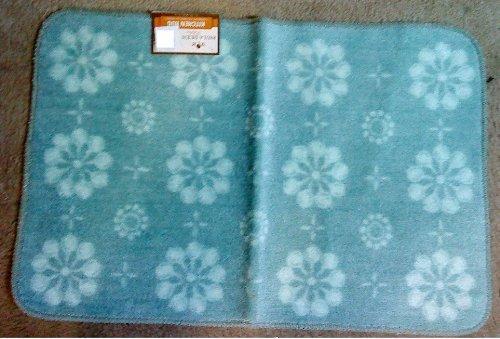 Paula Deen Kitchen Printed Acrylic Rug Mat Skillet Check Color Jade