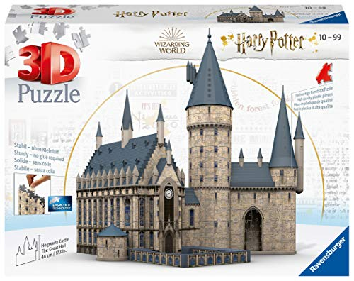 Ravensburger 3D Puzzle 11259 - Harry Potter Hogwarts Schloss - Die Große Halle - 540 Teile - Für alle Harry Potter Fans ab 10 Jahren