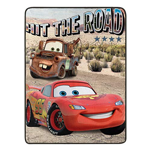 "Cars Off The Road Micro Raschel Throw Blanket, 46"" x 60"""