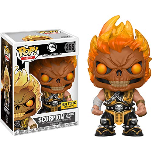 Scorpion Flaming Skull (Hot Topic Exc): Funko Pop! Games Vinyl Figure & 1 Compatible Graphic Protector Bundle (255 - 22510 - B)