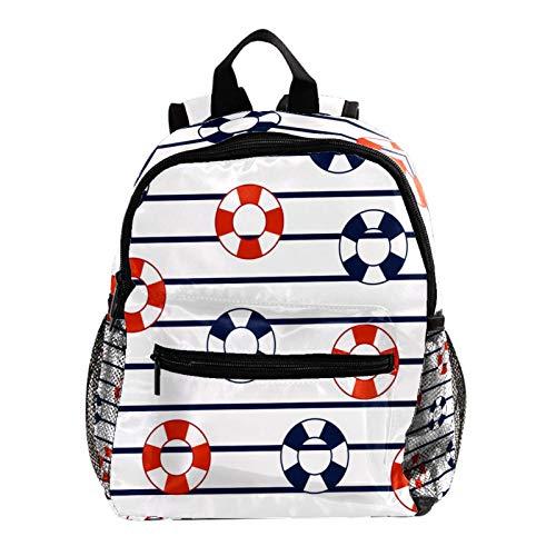 Mochila multifunción para senderismo, mochila escolar, mochila para deportes al aire libre, salvavidas flotadores de rayas marinas