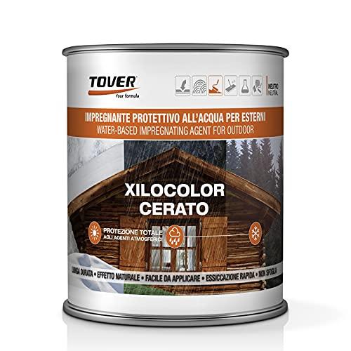 Tover Xilocolor 750 ml | Barniz al agua encerado para madera exterior – Teca