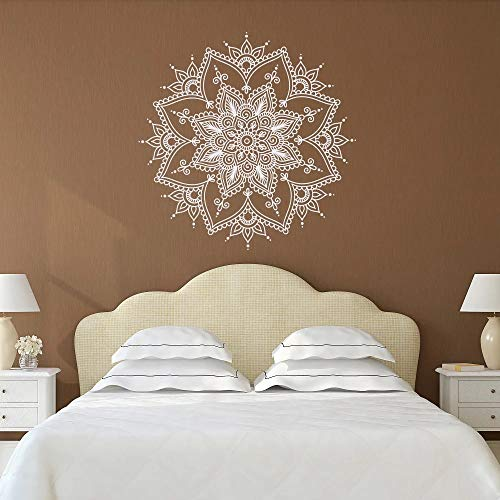 Mandala flor vinilo pared pegatina Yoga estilo Boho decoración de dormitorio sala de estar decoración del hogar papel tapiz