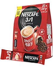 Nescafe 3in1 Instant Coffee Mix Sachet, Pack of 30 Sticks (30 x 20g)