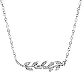 GIVA 925 Sterling Silver Classic Leaf Necklace with Chain   Pendants for Women & Girls   With Certificate of Authenticity ...