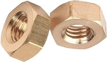 Xiedeai Sechskant Sicherungsmuttern Kupfer Sechskant Kopf Sicherungsmuttern Metrisch Gewinde Befestigungen Eisenwaren M8