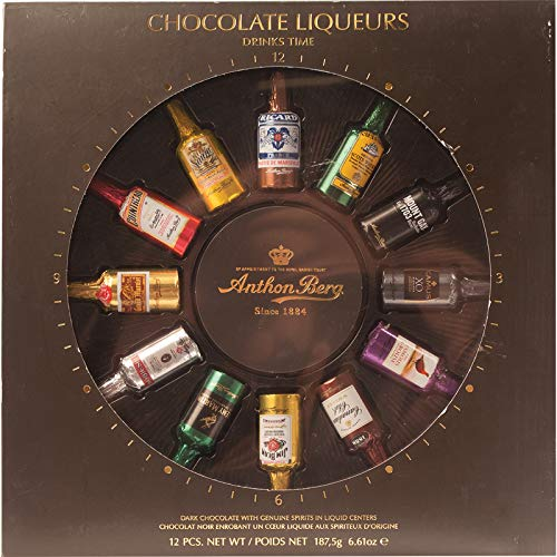 "Licores de chocolate Anthon Berg ""Drinks Time"" 12 piezas - 187G"