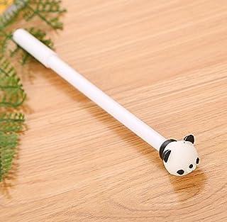 Royare of School Supplies 3Pcs/Set Animal Gel Pen Kit Simple Signing Pen Student Stationery Supplies (White)
