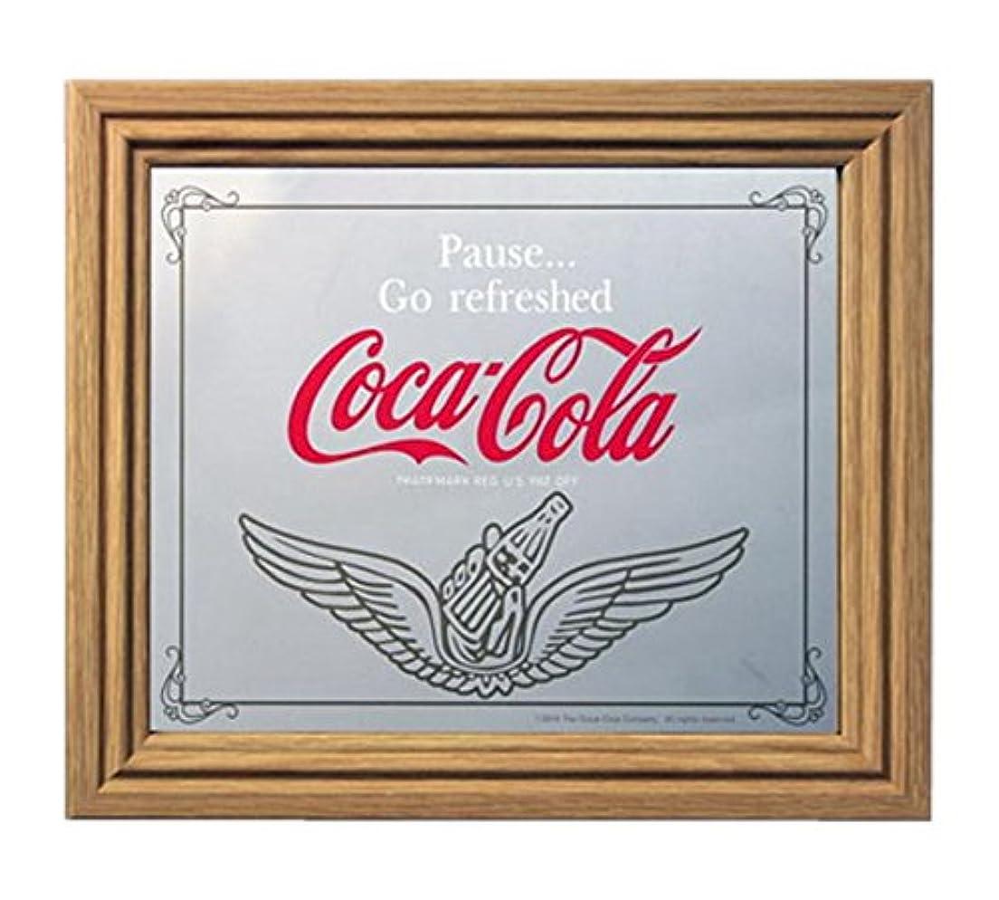 暖かく台風前部コカコーラ ミラー?鏡 ミラー 35×30×2.5cm