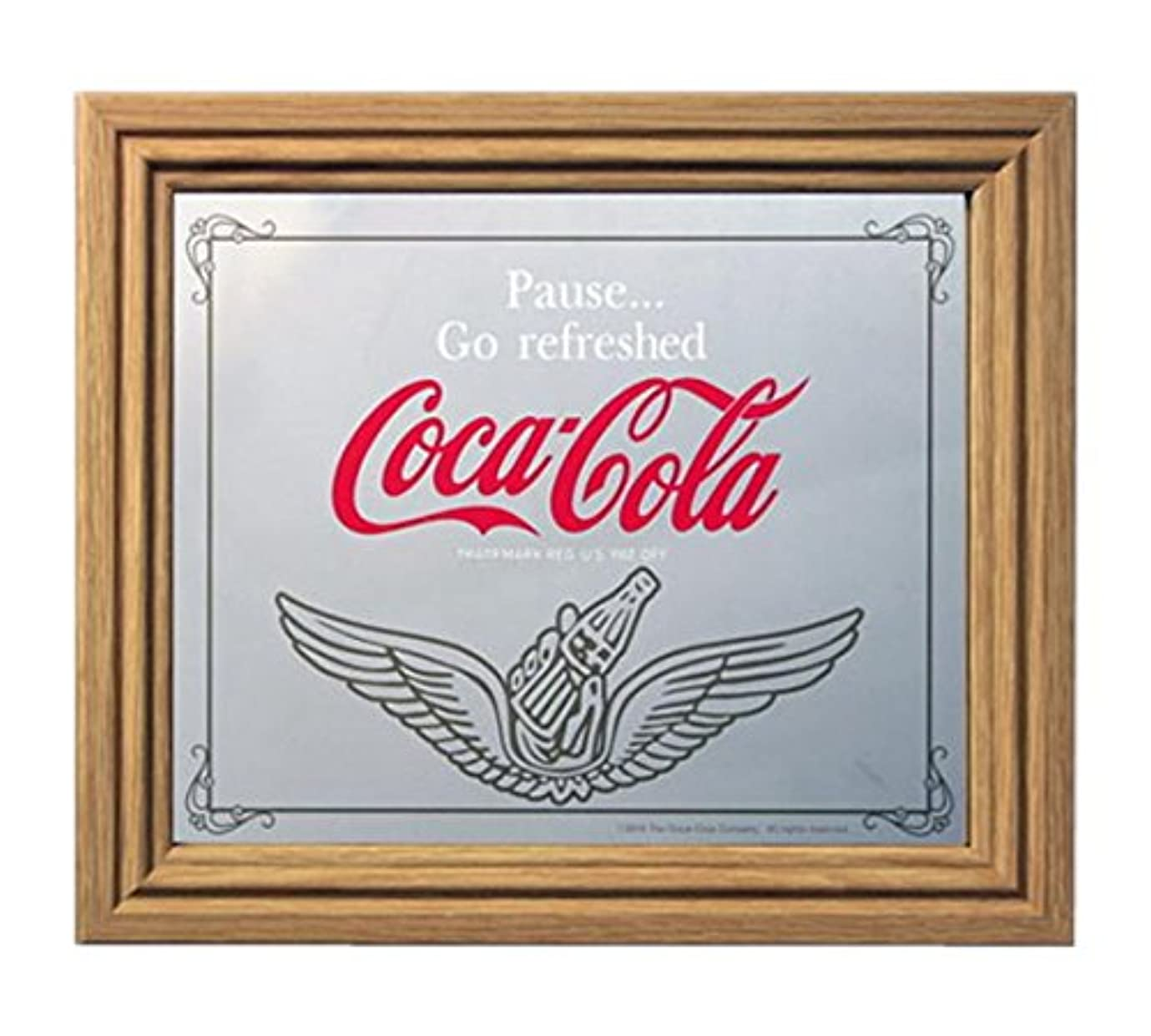 壁紙薬用割り当てコカコーラ ミラー?鏡 ミラー 35×30×2.5cm