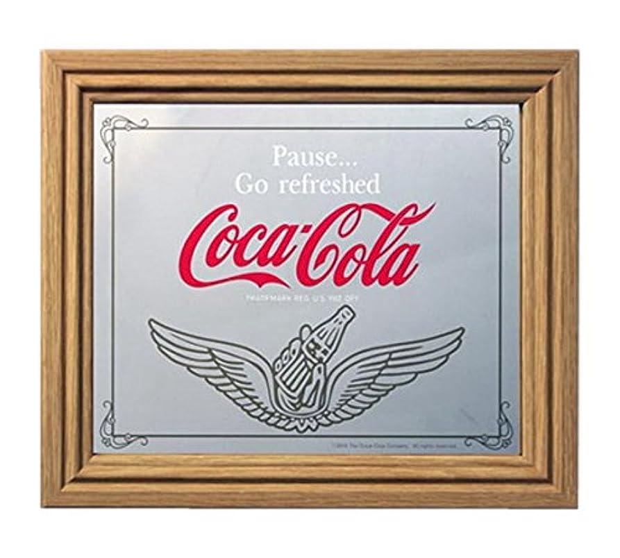 佐賀多様な地上でコカコーラ ミラー?鏡 ミラー 35×30×2.5cm