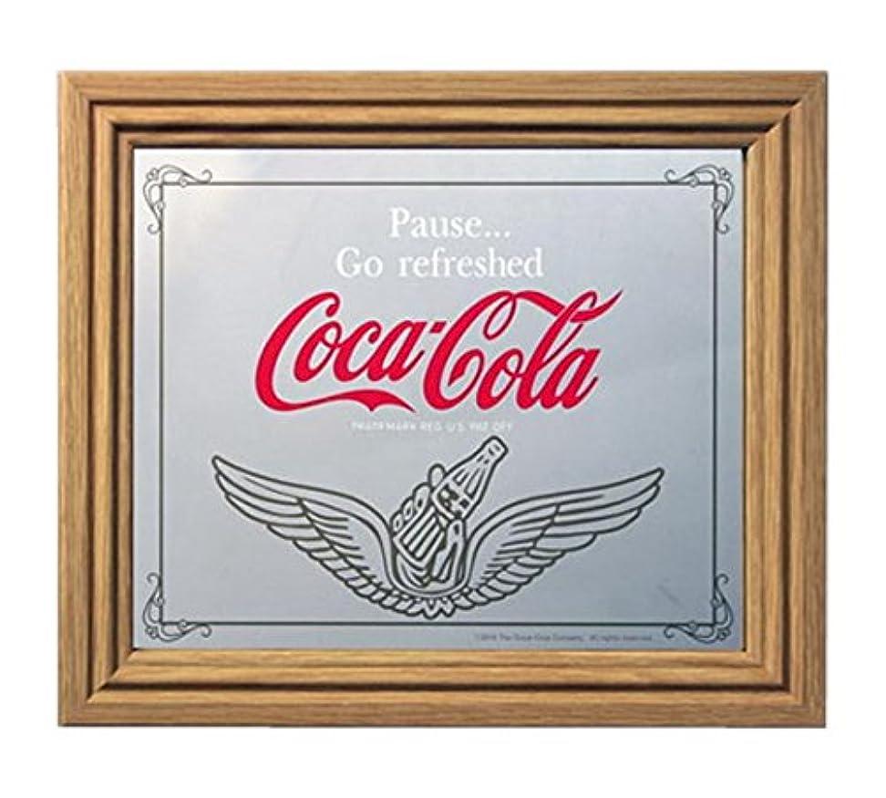とまり木約細心のコカコーラ ミラー?鏡 ミラー 35×30×2.5cm