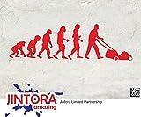 JINTORA Etiqueta para el Coche/Etiqueta engomada - Cortacésped Evolution - 200x60mm - JDM/Die Cut - Rojo