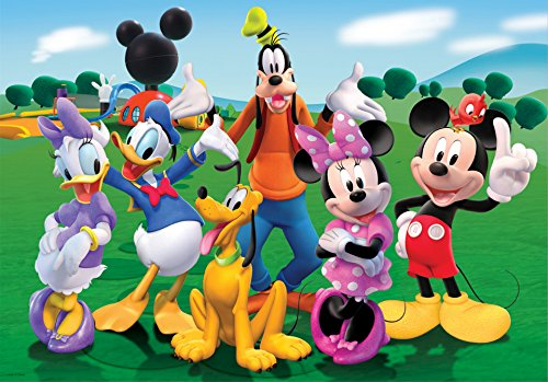 Disney Mickey Mouse Minnie Goofy Donald Daisy Pluto Edible Cake Topper Frosting 1/4 Sheet Birthday Party