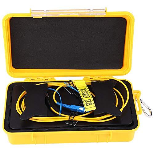 OTDR verlengkabel 2 km, LWL OTDR invoerkabel box SC/UPC-FC/UPC OTDR vezelring singlemode 2000 M, verlies: ≤ 0,5 dBm/km, OTDR glasvezel verlengkabel, veel accessoires