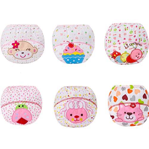 XM-Amigo Baby-Unterwäsche, für Mädchen, wiederverwendbar, Größe 1–3 Jahre, 6 Stück Gr. 12- 24 Monate, mädchen