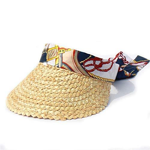Sonnenhut Hut Big Bow Beach Hüte Für Frauen Mode Schal Band Sun Caps Weiblich Sommer Stroh Visier Hut Leere Top Caps
