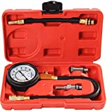 Shankly Compression Tester (Professional Grade), Compatible with Domestic and Imported Cars; Equipped with Useful 14mm/18mm Solid Short Adapter and Multiple Long Flexible Adapters