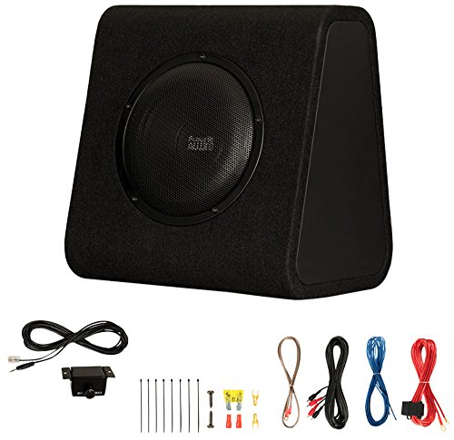 "Acoustic Audio by Goldwood ACA8WG Powered Amplified 8"" Car Ported Subwoofer 600W with Wiring Kit and Remote Level Control, Black"