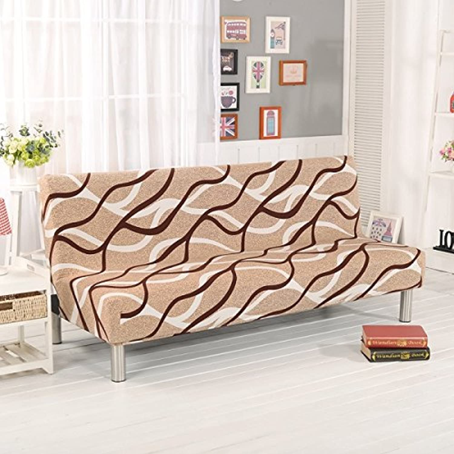 Farmerly Modern Without Armrest Sofa Cover Multifunction Sofa Slipcover Big Elastic Fabric Anti-Mite 160-210cm bluee Star Sofa Bed Covers   17, 160-195cm