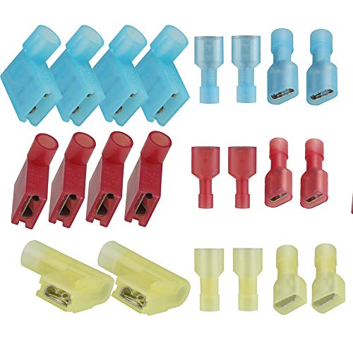 1 per Pack 2//0 Ga Negative Flag Battery Terminals Crimp Supply