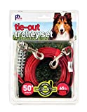 Prevue Pet Products 2124 Medium-Duty 50' Tie-Out Cable Trolley Set