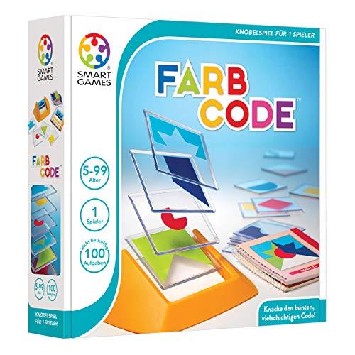 Smart Games Solitärspiel Farbcode, Denkspiel, Kinderspiel, Kinder Spiel, ab 5 Jahren, SG 090 DE