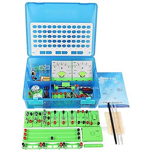 ROSG Clase de física Ciencia Circuito básico Equipo de exploración electrónica Experimento de Electricidad y magnetismo para niños Estudiantes de Secundaria y preparatoria