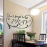 Beauté, n'oubliez pas de prier dessin animé stickers muraux art mural bricolage...