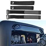Sukemichi Soft Top Sunrider Straps, Compatible with Tie Down Straps for Jeep Wrangler TJ JK JL 1997-2019(4 pack)