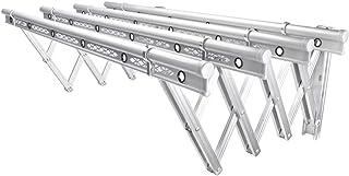Tendedero Extensible,Al Aire Libre Extensible Tendedero de Ropa Pared Plegable Estante para Secado de Ropa 120/150cm,Silver,120cm