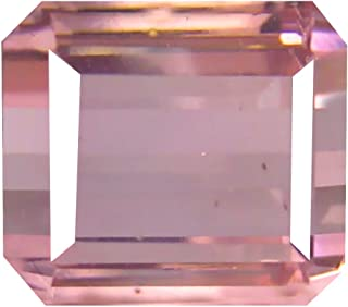 Deluxe Gems women men Unisex Adult Unisex Children teens Not stamped no-metal-type Octagon Pink tourmaline