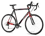 Giordano Libero 1.6 Road Bike, Black/Red, 63cm/Large