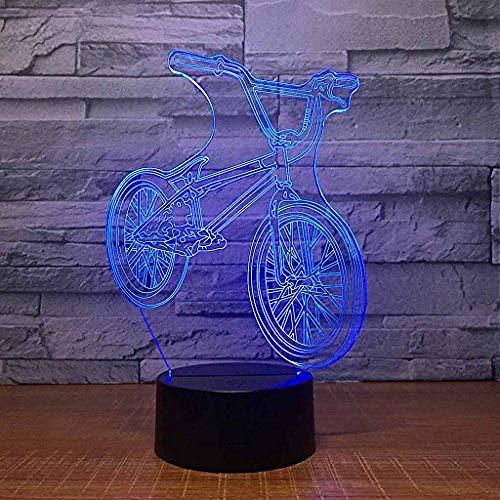 Led Nachtlampje / 3D Visuele Illusielamp/Mountainbike Tafellamp, Kinderen/Babykamer Decoratie, Verjaardag/Vakantiegiften Voor Kinderen