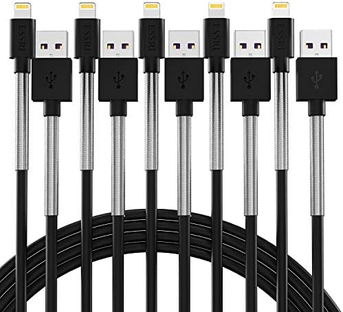 iPhone Charger Cable 10 ft 5pack Lightning Cable 10 Foot Charger Cable Fast iPhone USB Cord product image