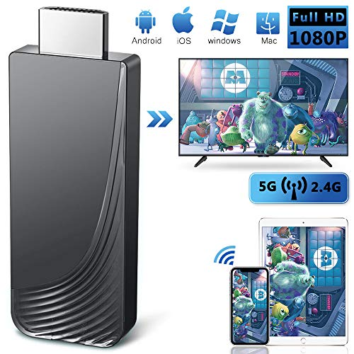 iBosi Cheng WiFi Display Dongle, 2.4G/5G HDMI Adaptador, Mini Aparato Pantalla Inalámbrico Receptor ,1080P HDMI TV Dongle Miracast para Android / iOS / Mac / Windows / Mac OS