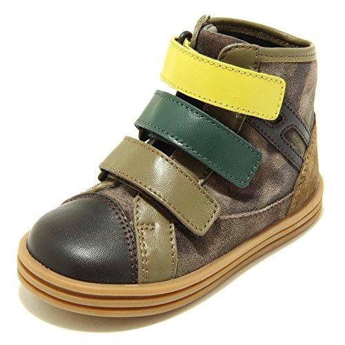Hogan 9396F Sneaker Rebel R141 Tri Strap Scarpa Bimbo Shoes Kids [22]