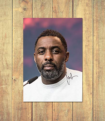 Star Prints Idris Elba 1 - High Gloss Personalised Printed Poster - A5 (148 x 210 mm)