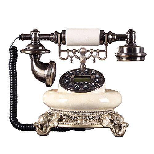 ZHENYANG Teléfono Retro Oficina En Casa Cable Teléfono Fijo Teléfono Antiguo Europeo Teléfono teléfono