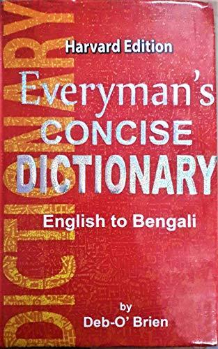 English To Bengali    Everyman's Concise Dictionary    Harvard Edition